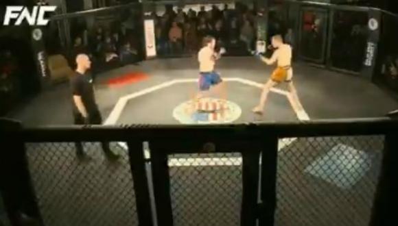 El luchador argentino de artes marciales mixtas (MMA), Francisco Barrio, ganó un combate en nueve segundos y sin tocar a su adversario. (Foto: Captura)