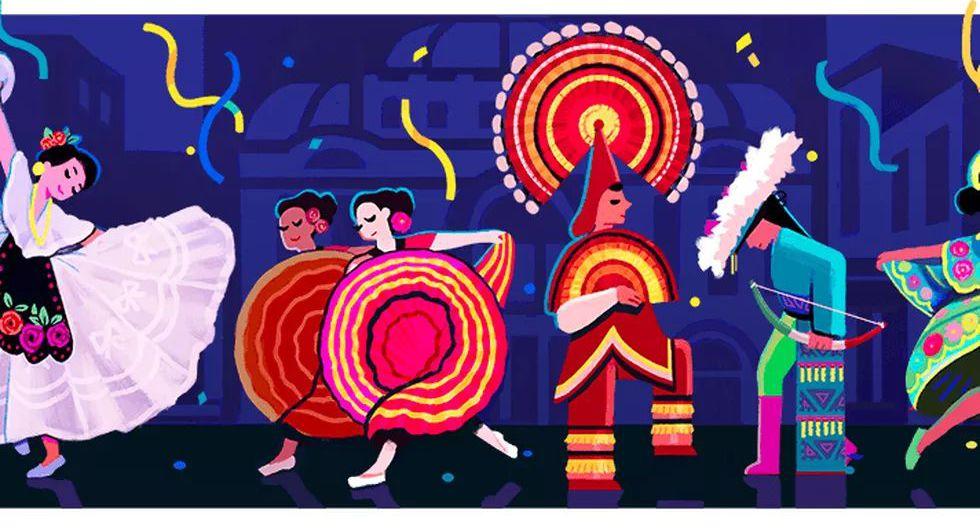 El pasado 19 de septiembre del 2017, Google le dedicó su doodle a Amalia Hernández, bailarina y coreógrafa mexicana, por cumplirse los 100 años de su nacimiento. (Captura de pantalla)
