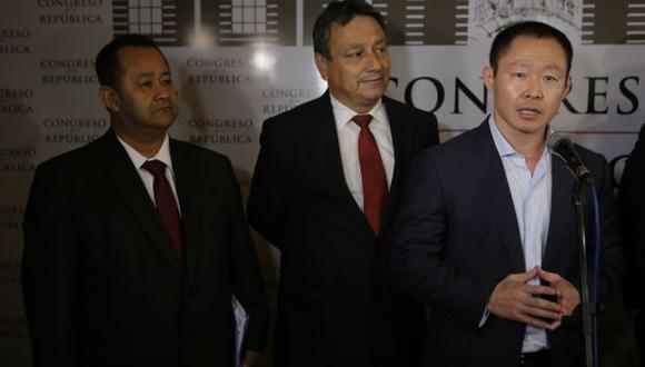 Kenji Fujimori , Guillemo Bocángel y Bienvenido Ramírez  serán sometido a juicio oral acusador de los supuestos delitos de cohecho y tráfico de influencias. (FOTOS: ALONSO CHERO)