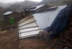 Huancavelica:vientos huracanados dejan un herido y dañan vivienda