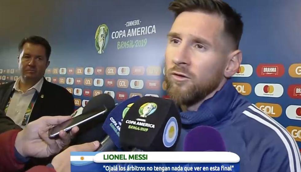 """Messi: """"Ojalá el VAR y los árbitros no tengan nada que ver en la final pues Perú tiene equipo para competir"""". (Video:YouTube / Foto: AFP)"""