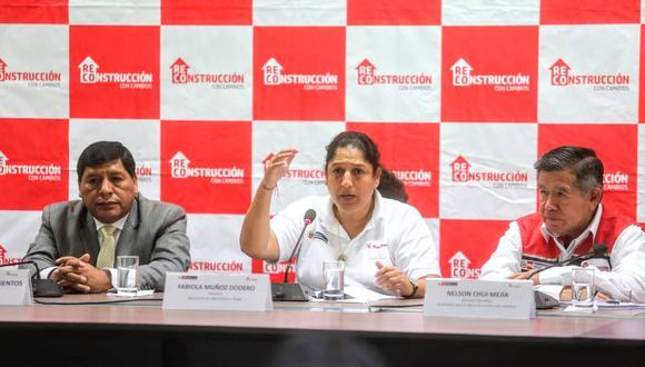 Fabiola Muñoz se reunió con el gobernador regional y alcaldes de Ica. (Foto: Minagri)