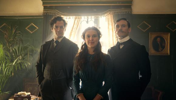 Millie Bobby Brown y Henry Cavill como Enola Holmes y Sherlock Holmes, respectivamente. Foto: Netflix.