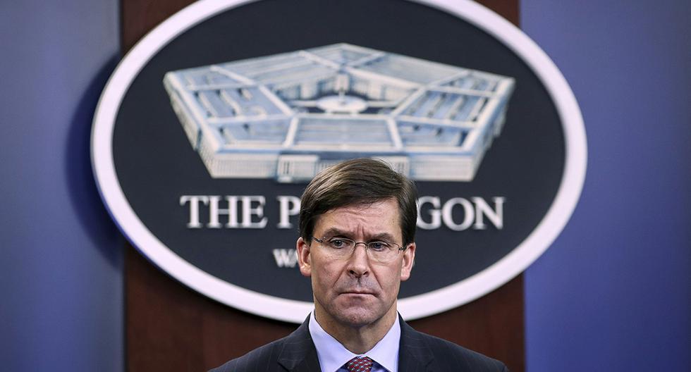 El secretario de Defensa de Estados Unidos, Mark Esper, anunció la muerte del militar en Nueva Jersey. (Foto: AFP/DREW ANGERER)
