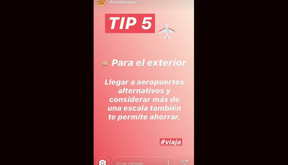 (Foto: Captura Instagram / Checklist Viajero)