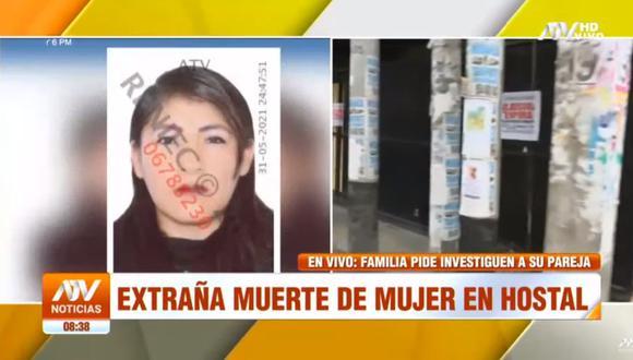 El cuerpo de Jessica Mirtha Puquio Arias presentaba hematomas en brazos, cuello, pecho y cara. (Foto: captura de video ATV)