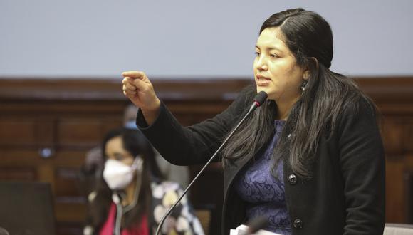 María Bartolo renunció a Unión por el Perú el pasado 15 de noviembre. (Foto: Congreso)