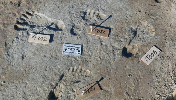 Las huellas pertenecen a niños y adolescentes que vivieron hace al menos 21.000 años. (BOURNEMOUTH UNIVERSITY).