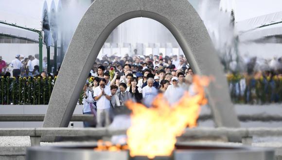 La ceremonia anual de conmemoración se realizó en el Memorial de la Paz de Hiroshima. (Foto: AP)