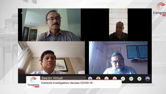 La comisión investigadora del Congreso para el caso de los funcionarios públicos que se beneficiaron indebidamente con las vacunas contra el COVID-19 de Sinopharm sesiona de manera reservada el último 18 de febrero.