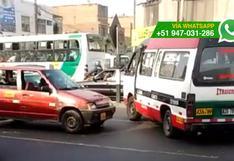 WhatsApp: tráfico en Lima es un caos por conductores como este