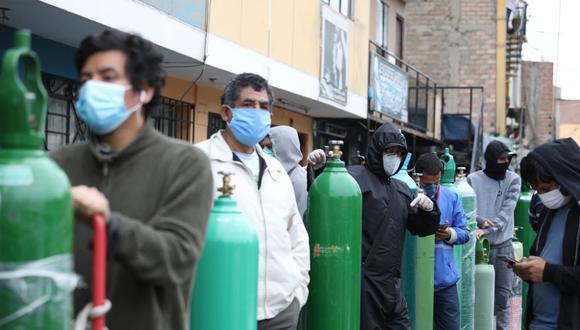 Gobierno evalúa declarar el acceso al oxígeno de interés nacional. (Foto: Britanie Arroyo)