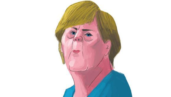""""""" Muchas de las políticas de Merkel que inicialmente tuvieron un efecto estabilizador conllevaron costos ocultos a largo plazo"""" (Ilustración: Víctor Aguilar)."""