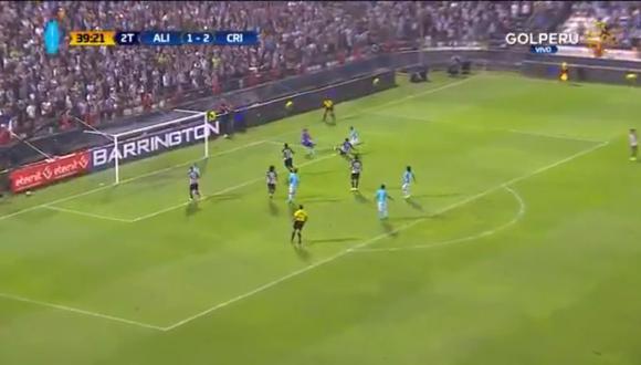 Gabriel Costa colocó el 3-1 en el Alianza Lima vs. Sporting Cristal por la final del Torneo Descentralizado 2018 (Foto: captura de pantalla)