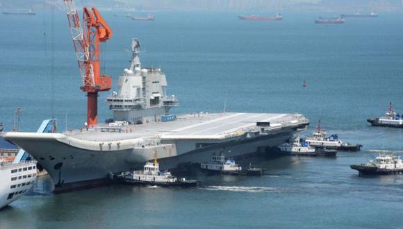El portaaviones llegó a China en 2002 y tardó una década en estar terminado y operativo. (Getty Images).