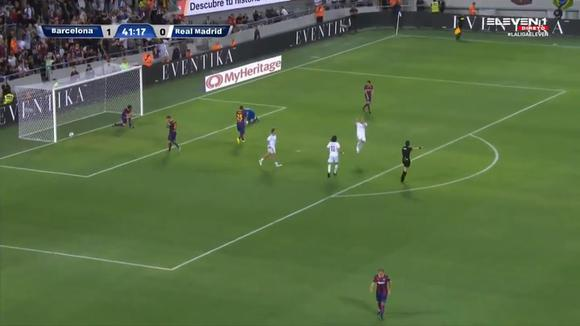 Pedro Munitis scored the tying goal for Real Madrid vs.  Barcelona in a duel of Legends.  (Video: Eleven 1)