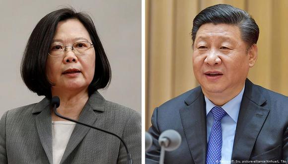 Las relaciones entre China y Taiwán se han vuelto más tensas desde que la independentista Tsai Ing-web llegó a la presidencia en Taipéi. A la derecha, el mandatario chino, Xi Jinping. (Reuters)