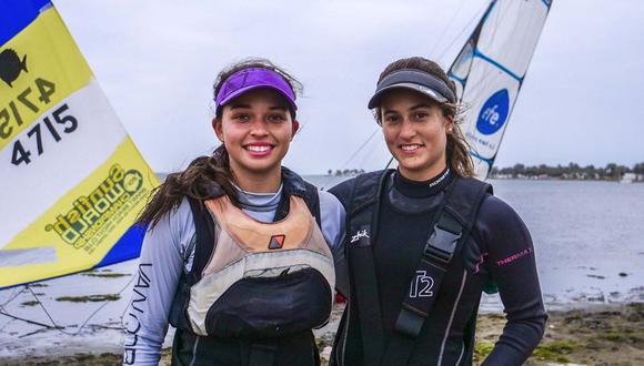 La dupla peruana formada por María Pía y Diana que logró la clasificación a Tokio 2020. (Foto: Facebook)