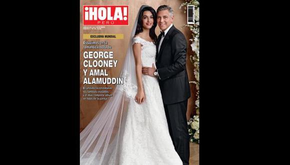"Detalles de la boda de George Clooney en ""¡Hola! Perú"""