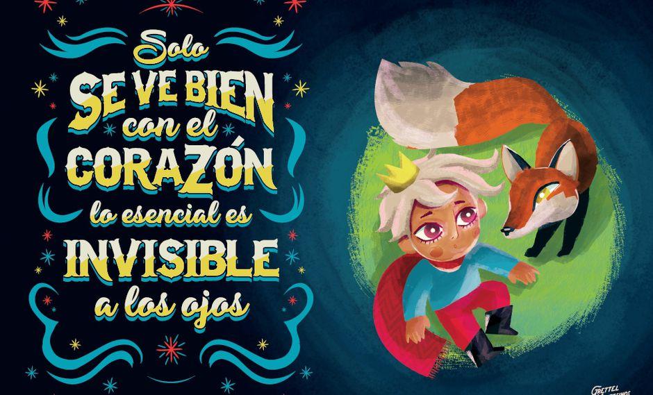 """Ilustración de Grettel Montesinos que se publicó en la versión de """"El principito"""" de la editorial Estruendomudo."""