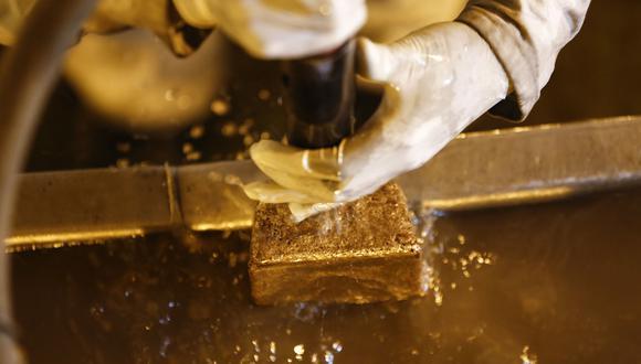 Los futuros del oro en Estados Unidos ganaban un 0,1% a US$1.827,10. (Foto: Bloomberg)