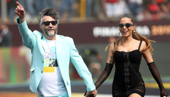 Fito Páez y Anitta en la apertura de la Copa Libertadores 2019. (Foto: Instagram)
