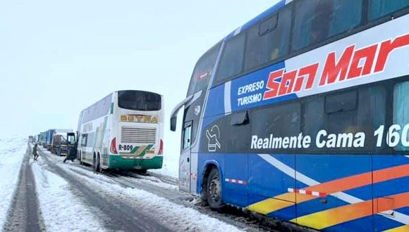 Sutran se comunicó con los operadores de los terminales terrestres el estado de las vías, a fin de que procedan a suspender la salida de buses hasta el restablecimiento del tránsito.