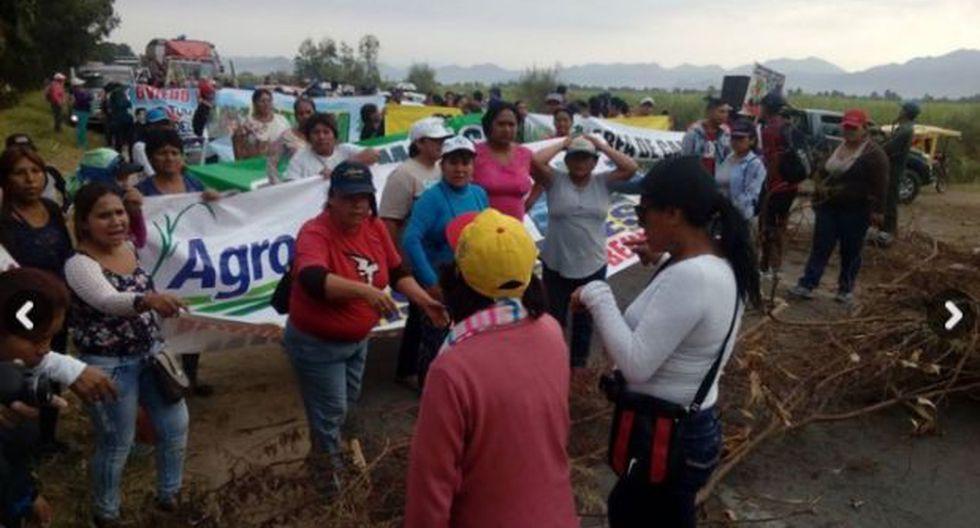Chiclayo: policía resultó herido de bala en desbloqueo de vía