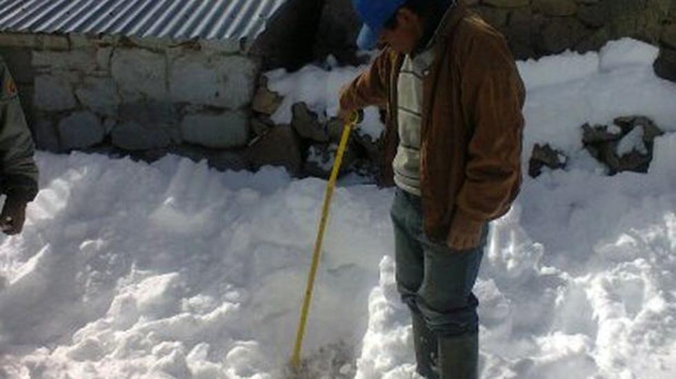 Nieve alcanza un metro de altura en centro poblado de Ayacucho - 1