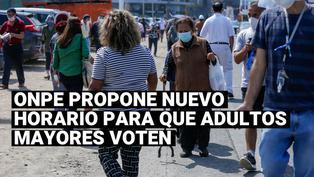 ONPE propone cambiar el horario del voto escalonado para los adultos mayores