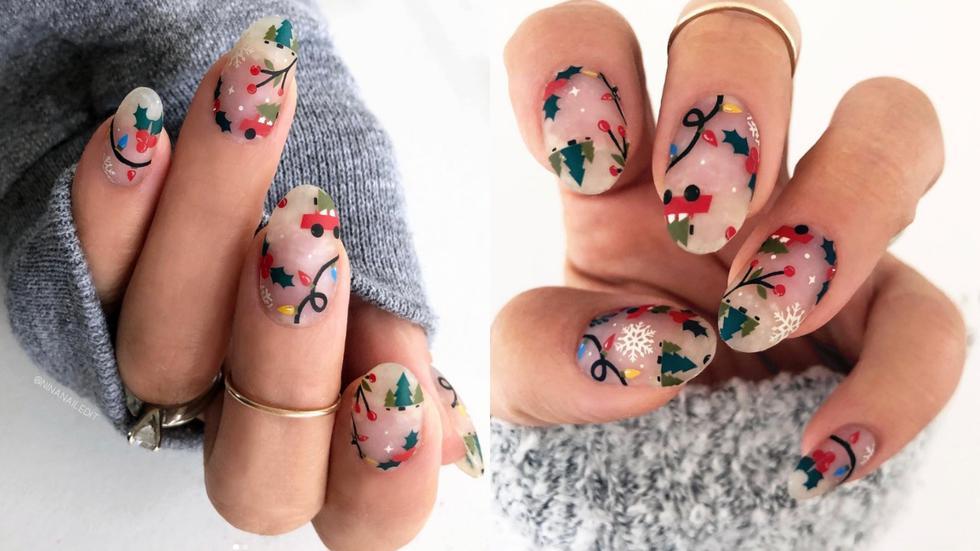 Decora tus uñas con un estilo floral y agrega detalles como copos de nieves y ondas, para un resultado más artístico. (Fotos: IG @goscratchit)