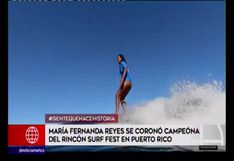 Mafer Reyes se coronó campeona del Rincón Surf Fest en Puerto Rico