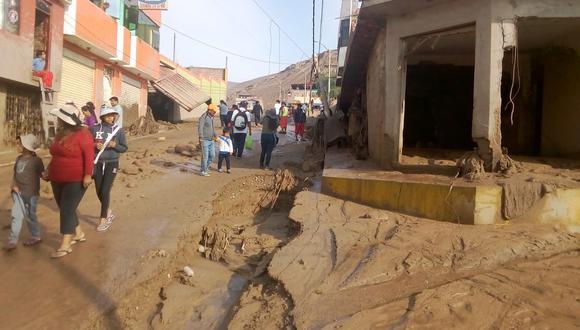 Así han quedado las calles de distintos sectores de Tacna tras el huaico registrado anoche. (Foto: Minagri)