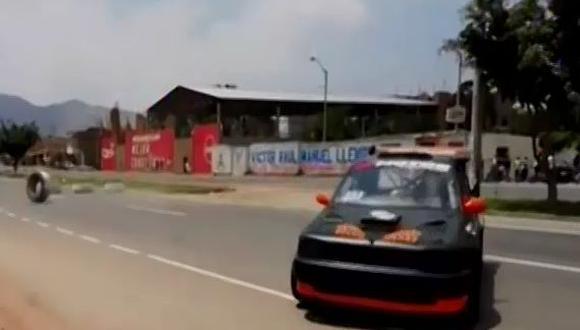 La Libertad: un muerto y un herido deja accidente en carrera de autos