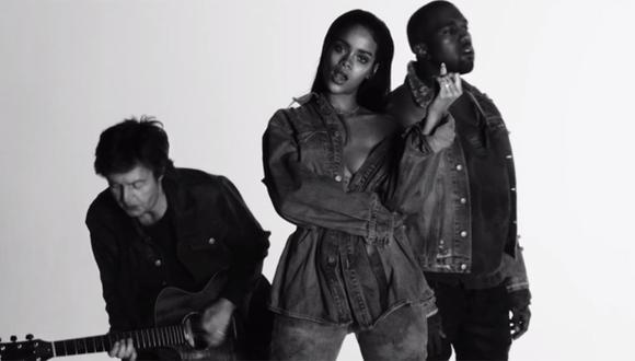Rihanna, Paul McCartney y Kanye West estrenaron video juntos