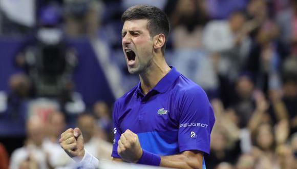 Novak Djokovic avanzó a la final del US Open 2021. (Foto: AFP)
