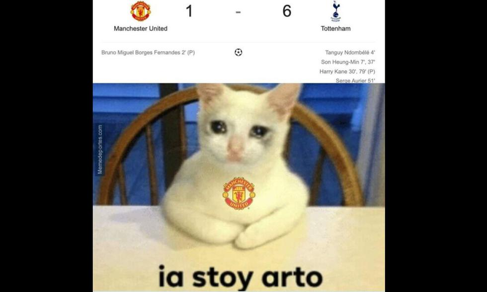 Memes tras goleadas al Manchester United y Liverpool (Twitter)