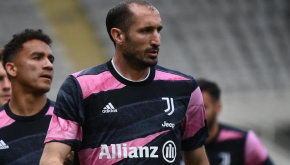 Giorgio Chiellini acaba contrato con Juventus a mediados del 2021. (Foto: AFP)