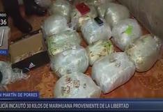 SMP: incautan 30 kilos de marihuana proveniente de La Libertad | VIDEO