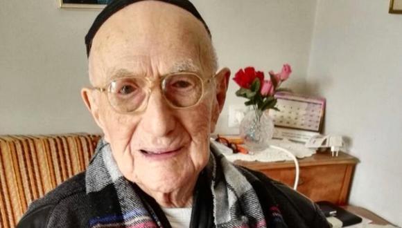 Yisrael Kristal, el hombre más viejo del mundo, murió a la edad de 113 años en Israel. (Foto: AFP)