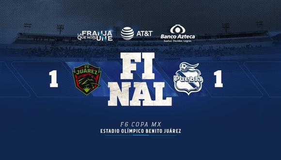 Puebla igualó 1-1 ante Juárez por la sexta jornada de la Copa MX   Foto: Puebla