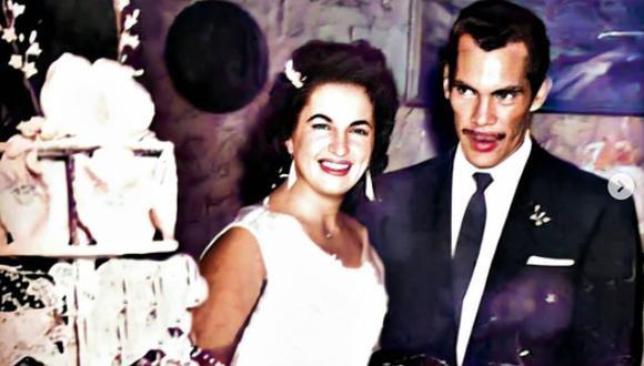 Imagen del día de la boda de Ramón Valdés y su amada Araceli Julián. (Foto: Carmen Valdés / Twitter)