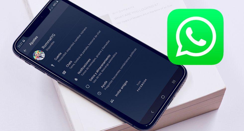 """¡Ya se puede activar el """"modo oscuro""""! Conoce paso a paso cómo obtenerlo en WhatsApp. (Foto: WhatsApp)"""