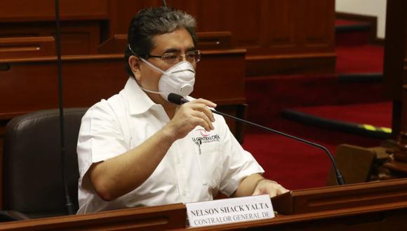 El contralor Nelson Shack indicó que ya se presentó la denuncia ante el Ministerio Público. (Foto: Contraloría)