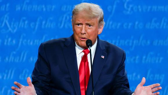 El presidente de Estados Unidos, Donald Trump, durante el debate final de la campaña presidencial de Estados Unidos de 2020 con el candidato presidencial demócrata Joe Biden en la Universidad de Belmont en Nashville, Tennessee, Estados Unidos. (Foto: REUTERS / Jonathan Ernst).