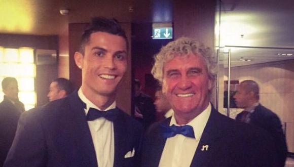 Jean Marie Pfaff en una foto de su archivo personal junto a Cristiano Ronaldo, el astro portugués | Foto: Cortesía de Jean Marie Pfaff