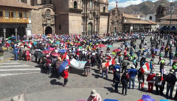 Cusco: diálogo entre Ejecutivo y maestros en huelga aún no se concreta (Foto: Miguel Neyra)
