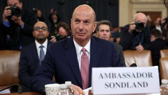 Gordon Sondland declara en el Congreso de Estados Unidos sobre las presiones de Donald Trump a Ucrania. (REUTERS/Jonathan Ernst).