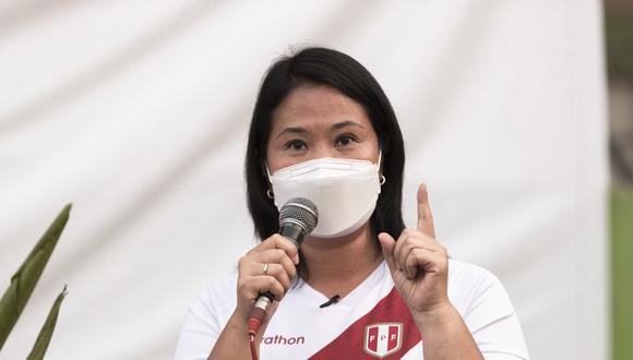 Candidata presidencial de Fuerza Popular fue consultada sobre si un probable indulto de Alberto Fujimori afectaría el desarrollo del caso. (Foto: El Comercio)