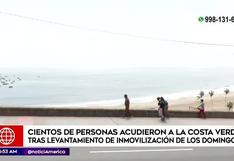 Costa Verde: familias visitan las playas de la capital peruana